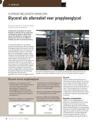 Glycerol als alternatief voor Propyleenglucol