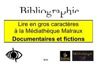 Lire en gros caractères à la Médiathèque Malraux_04.2010