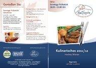 Kulinarisches 2011 / 12 - Restaurant und Hotel Zum Treppche