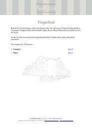 Fingerfood - StrandHotel Seeblick