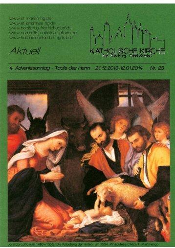 Aktuell Nr. 23. 2013.mit Bild.pub - Katholische Pfarrei St. Bonifatius