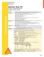 SikaTop Seal 107 Product Data Sheet - Brock White