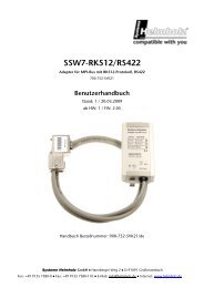 SSW7-RK512/RS422 - TP Automation e.K.