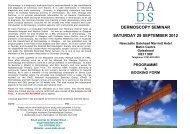 dermoscopy seminar saturday 29 september 2012 - BDNG
