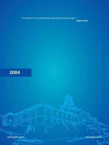 2004 - Good Shepherd International School
