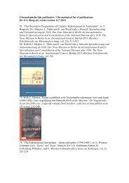 Chronologische lijst publicaties / Chronological list - Universiteit van ...