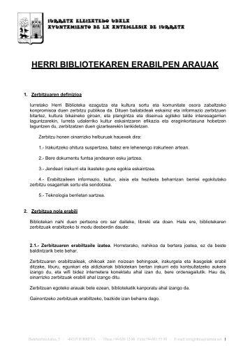 Bibliotekako erabilpen arauak (PDF, 213KB)