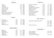 Alkoholfreie Cocktails - Strandhotel Hohenzollern
