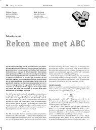 Reken mee met ABC - Mathematisch Instituut Leiden - Universiteit ...