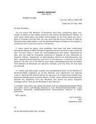 CABINET SECRETARY NEW DELHI PRABHAT ... - Rajya Sabha