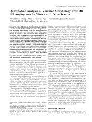 Quantitative Analysis of Vascular Morphology From 3D MR ...