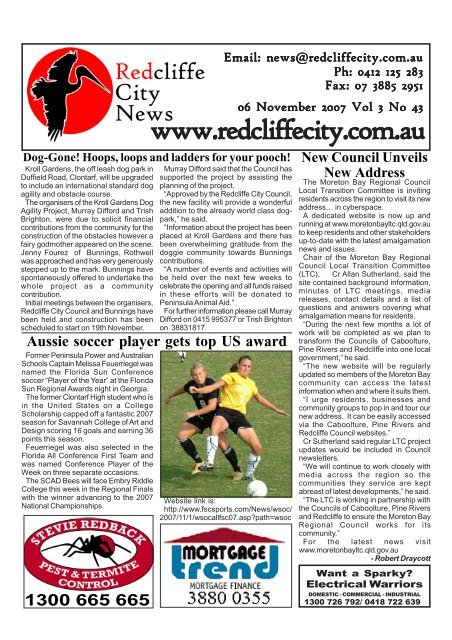 20071106Edition131 - Redcliffe City News