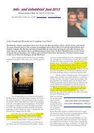 Info und Gebetsbrief Juni 2013.pdf - Helmut Blatt