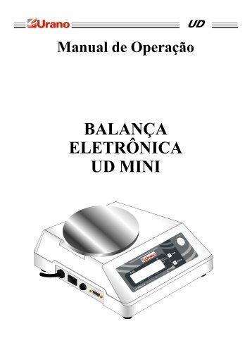 BALANÇA ELETRÔNICA UD MINI - Urano
