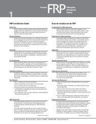 FRP Installation Guide Guía de Instalación de FRP - Panolam