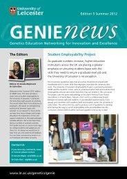 GENIE newsletter Summer 2012 - University of Leicester
