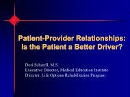 Patient-Provider Relationships - BC Renal Agency