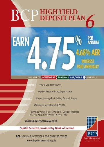 BCP High Yield Deposit Plan 6 - Adelphi Financial Brokers