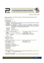 Resumen de Licitaciones 15-04-13 - cpzulia.org