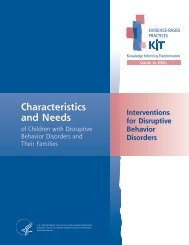 Characteristics and Needs - SAMHSA Store - Substance Abuse and ...