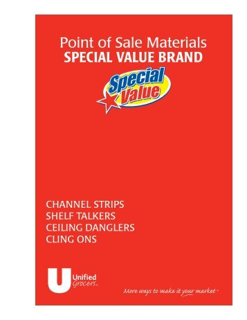 Special Value POS Book - Unified Grocers