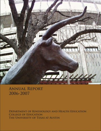 Annual Report 2006-2007 - The College of Education - The ...