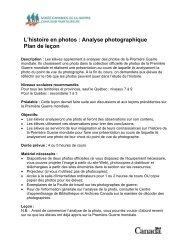 L'histoire en photos : Analyse photographique Plan de leçon