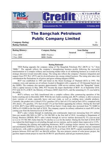 The Pub Bang blic Co gchak ompa k Petr any Li ... - Investor Relations