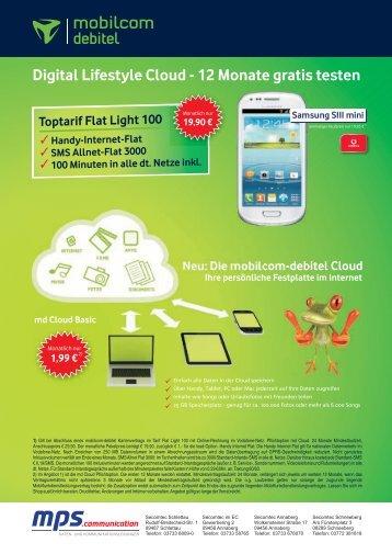 Digital Lifestyle Cloud - 12 Monate gratis testen - Secomtec