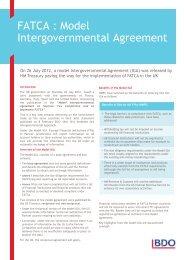FATCA: Model Intergovernmental Agreement - UK.COM