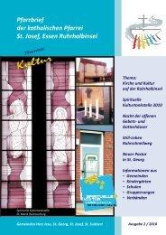 Pfarrbrief der katholischen Pfarrei St. Josef, Essen ... - Bistum Essen