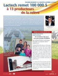 Lactech remet 100 000 $ - Agri-Marché