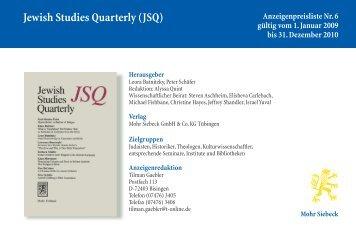 Jewish Studies Quarterly (JSQ)