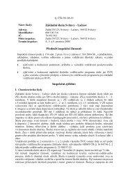 Inspekční zpráva - ZŠ Svitavy, Lačnov