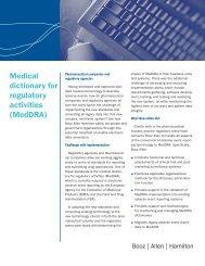 Medical dictionary for regulatory activities (MedDRA) - Booz Allen ...