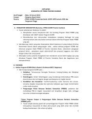 NOTULENSI LOKAKARYA CFP PRBBK PROVINSI ... - UNDP