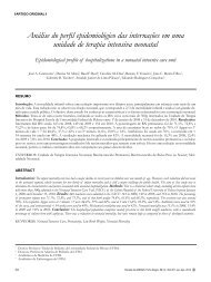 Análise do perfil epidemiológico das internações em uma unidade ...