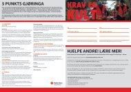 5 punKTS gJØRIngA HJELpE AnDRE! LÆRE mER! - Røde Kors