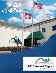 Annual Report for 2010 - Rogers-Lowell Area Chamber of Commerce