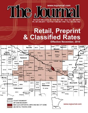 Retail, Preprint & Classified Rates - New Ulm Journal
