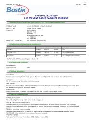 safety data sheet l16 solvent based parquet adhesive - Wickes