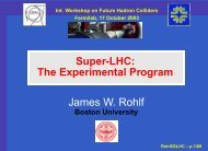 SLHC - Boston University Physics Department.
