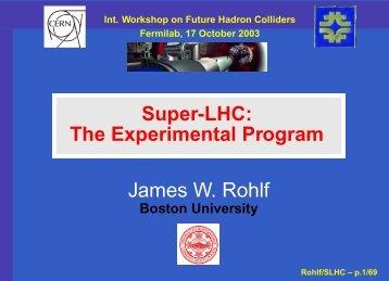SLHC - Boston University Physics Department.