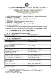 calendario scolastico regionale - dante alighieri'' - varese