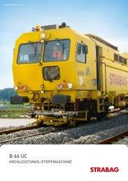 hochleistungs-stopfmaschine - Strabag AG