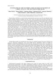 INVESTIGATION OF THE SCATTERING CROSS SECTIONS OF ...