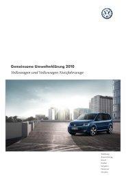 Gemeinsame Umwelterklärung 2010 - Volkswagen AG