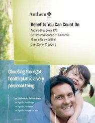 Choosing The Right Health Plan Is A Very Personal Thing.