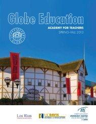 Globe Education ACADEMY FOR TEACHERS - Mondavi Center