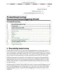 Produktbeskrivning: Gemensamhetsanläggning Direkt - Lantmäteriet